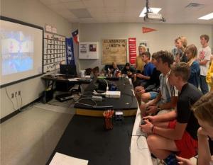 Physics TStem Class Playing Mario Cart