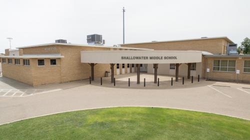 Shallowater Middle School Entrance