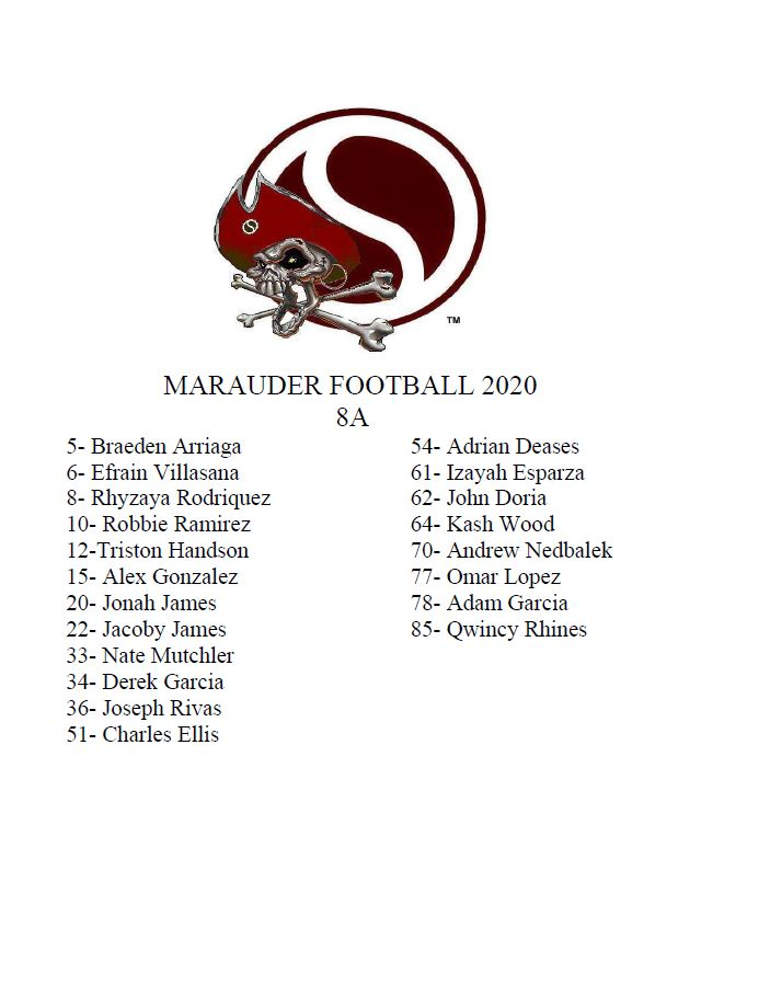 2020 8A Roster