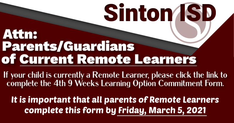 Parents of Current Remote Students