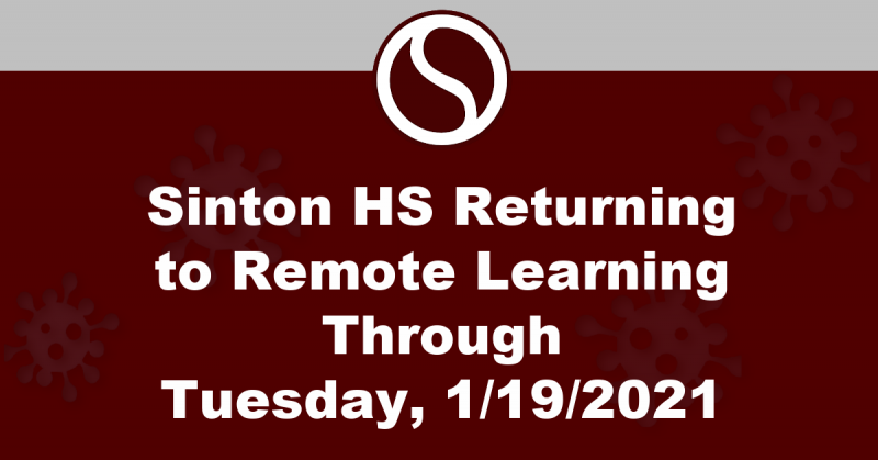 Remote Learning for SHS through 1/19/21