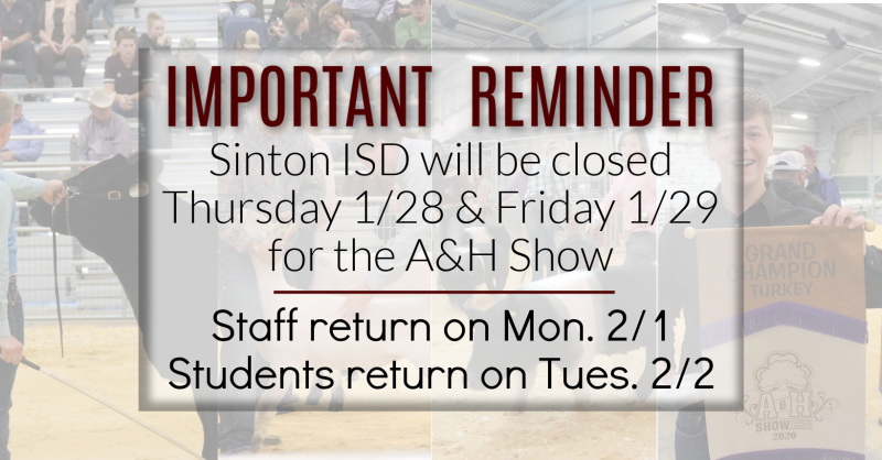 Important Reminder-Students/Staff Days Off