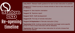 SINTON ISD RE-OPENING TIMELINE