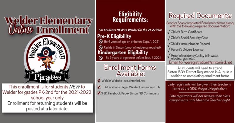 Welder Enrollment for New Students for 21-22