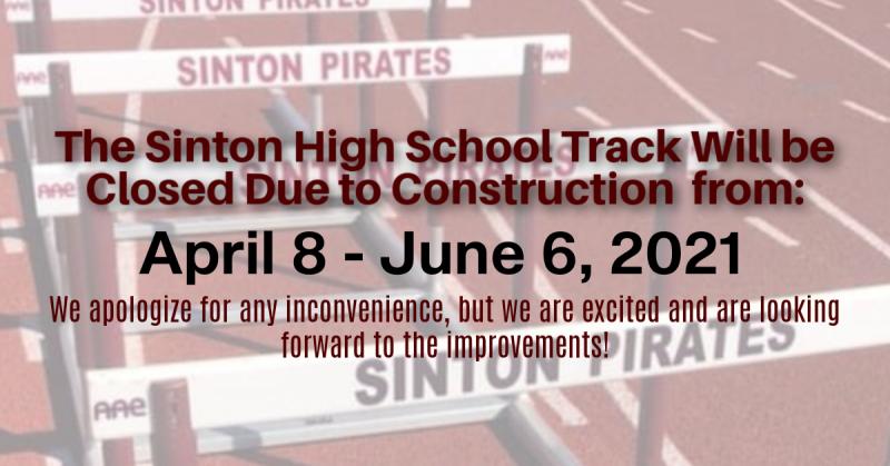 SHS Temporary Track Closure