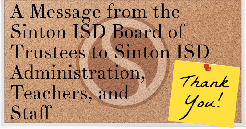 A Message from The SISD Board of Trustees