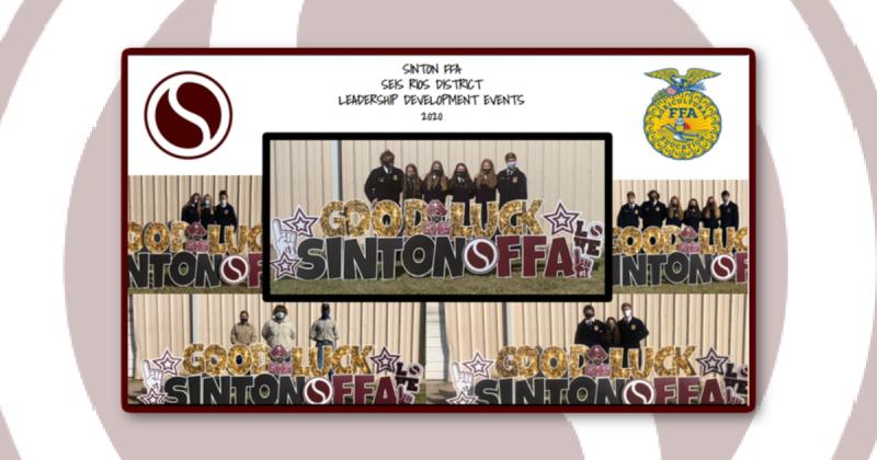 Sinton FFA District Leadership Development Event Results