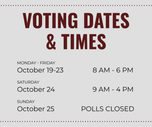 Voting Dates and Times