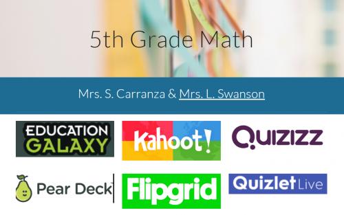 Click for 5th Grade Math Website