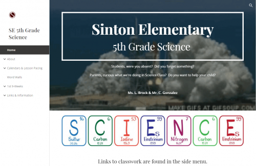 Click for 5th Grade Science Website