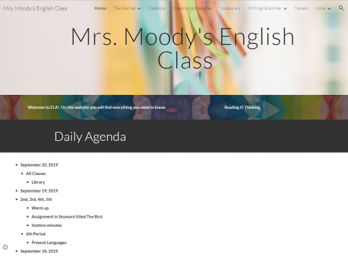 Click for 8th Grade ELA Website-Moody