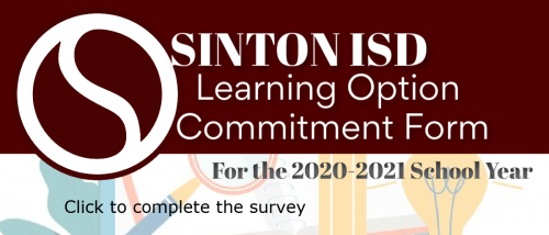 Sinton ISD Learning Option Commitment Form
