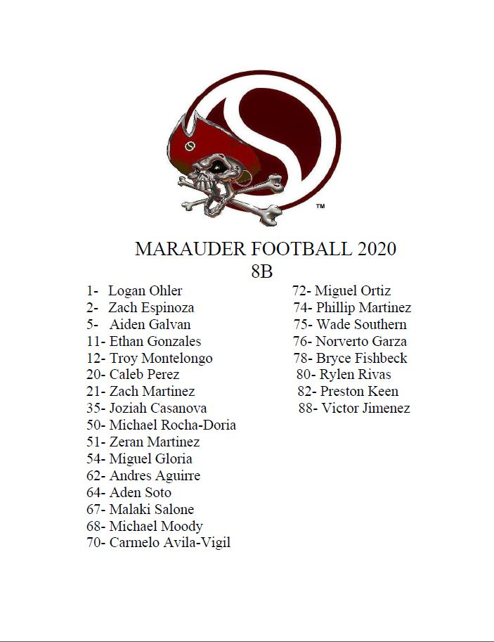 2020 8B Roster
