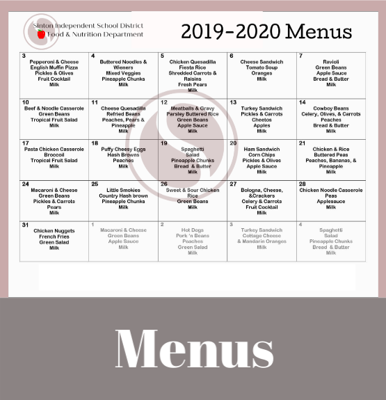 Click to View Menus