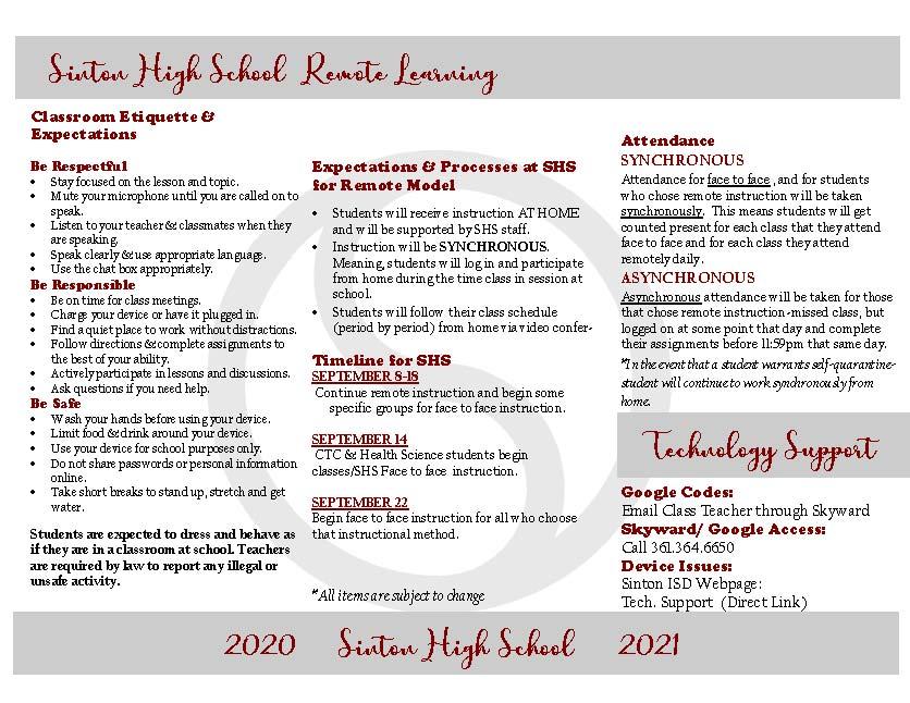 SHS Brochure Page 2