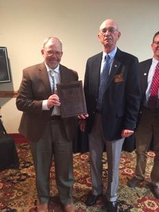2015 Von Dahl Champion of Education Award Winner Rep Albert Sommers (L) Congratulated by Von Dahl