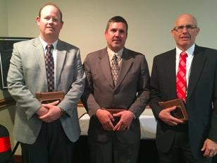 2016 Superintendent of the Year Nominees (L-R) Shon Hocker - Big Horn #1 Marty Kozba - Sheridan #1 Dave Barker - Platte #2 (not pictured) Donna Little-Kaumo Sweetwater #2