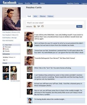 facebook templates for projects - washington elementary the outsiders project