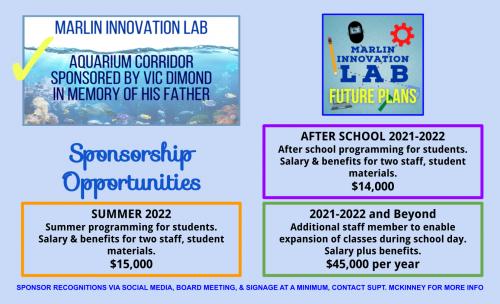 Sponsorship opportunities Summer 2021