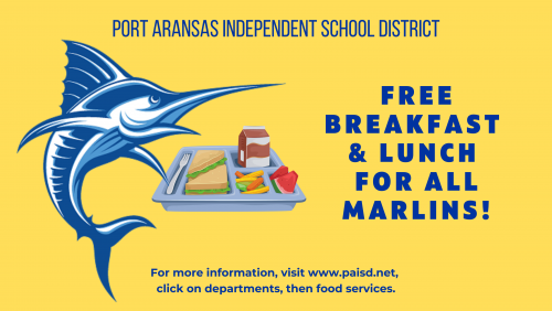 Free Breakfast/Lunch announcement