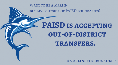 Out of District transfer banner