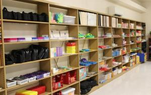 Parent Center shelves of resources