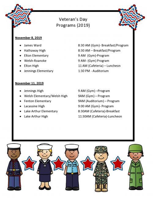 Veteran's Day Programs