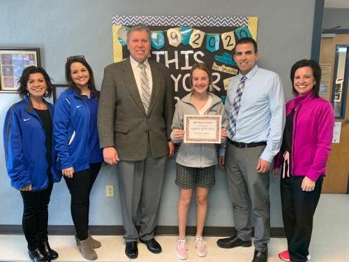 Middle School Student of the Year - Ellie LeBlanc, Hathaway High School