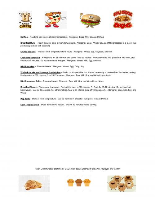Allergen Information Page 2