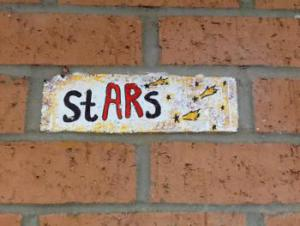 Meeting or BEATing the top AR goal makes you an AR STAR!!!!      And you get to paint a brick.....