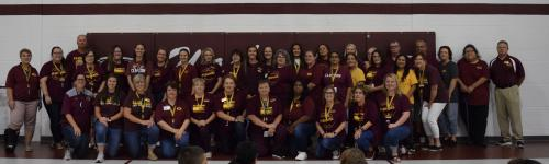 Washington Elementary Faculty Loves the Red Tornadoes