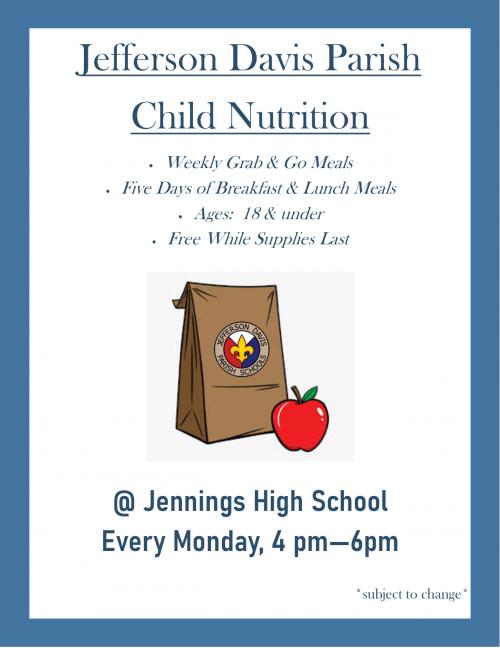 JHS Grab & Go Meals