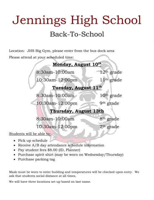 Back-To-School Schedule Pickup