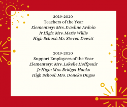 Thumbnail Image for Article 2019-2020 Lacassine High School Teachers of the Year!