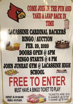 Thumbnail Image for Article Lacassine Cardinal Backers Bingo/Auction