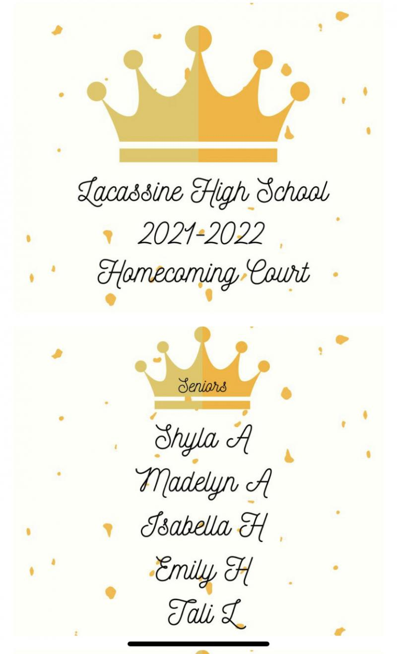 2021 LHS Homecoming Court