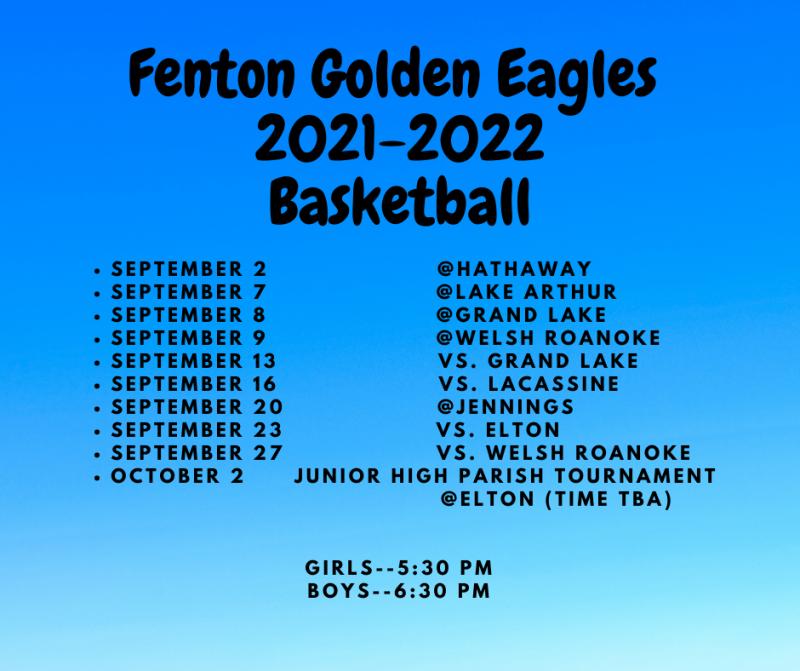 2021-2022 Basketball Schedule