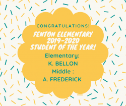 Thumbnail Image for Article 2019-2020 Fenton Elementary Student of the Year!