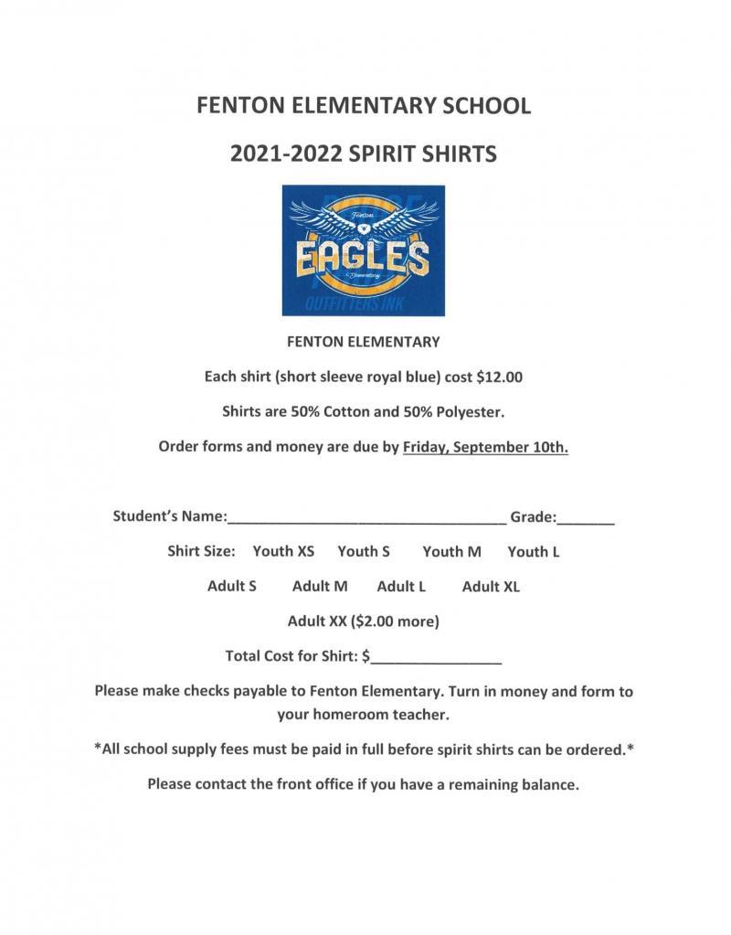 2021-2022 Spirit Shirts