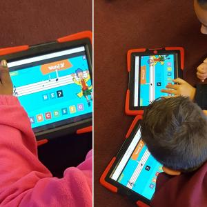 extra practice on our lines and spaces on the Ipads