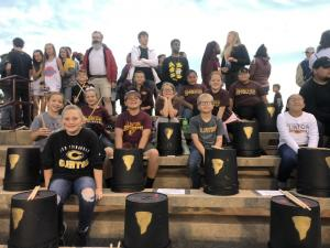 2019 Bucket drumming at the Football Game