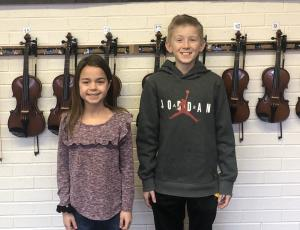These two students will be performing in Tulsa for All State Children's Chorus