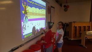4th graders composing music