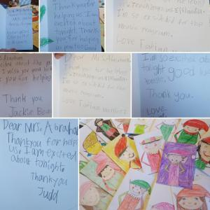 I love the wonderful notes from the 3rd grade students about their Program!