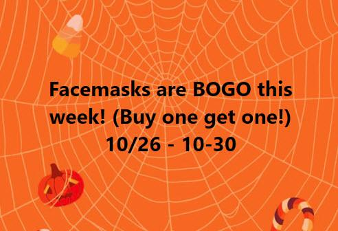 Facemasks on Sale at U-Wear Spirit Store