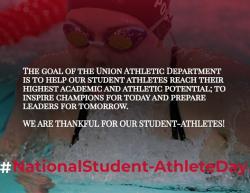 #NationalStudentAthleteDay