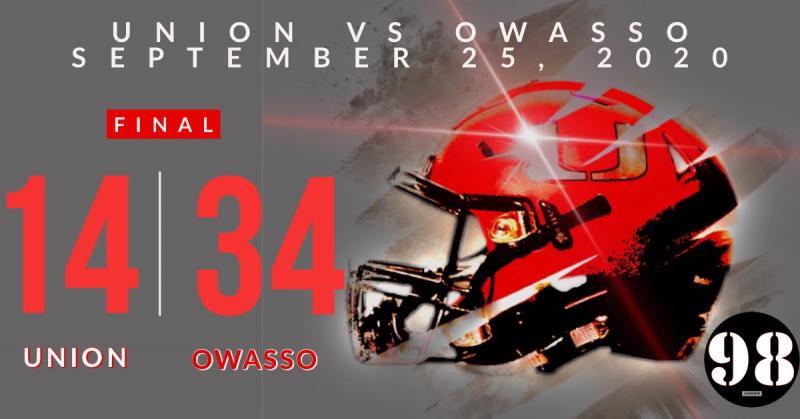 Owasso Football beats Union