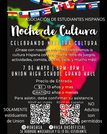 HSA Hosting Culture Night May 7 At High School