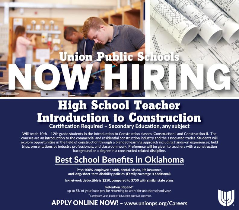 Union Hiring Construction Teacher