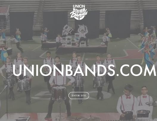 New Website for Union Bands